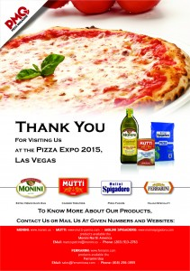 THANK YOU - Pizza Expo 2015
