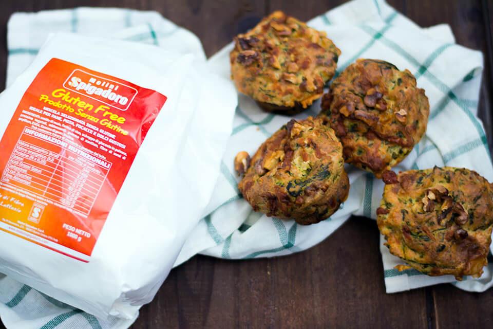Muffin salati vegetariani senza glutine