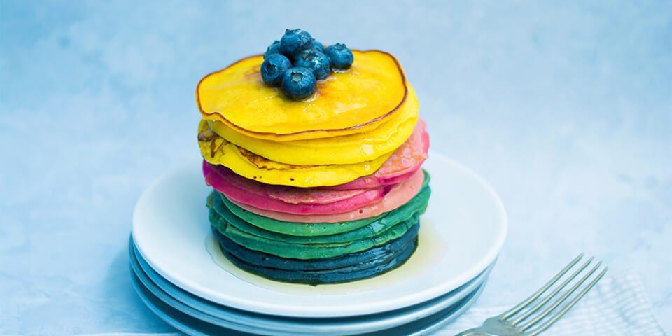 pancakes rainbow