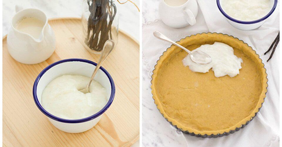 Crostata di pere con crema al latte ricetta fase 1