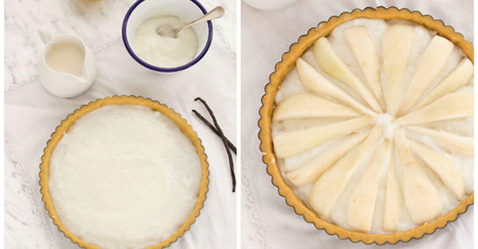 Crostata di pere con crema al latte ricetta fase 2