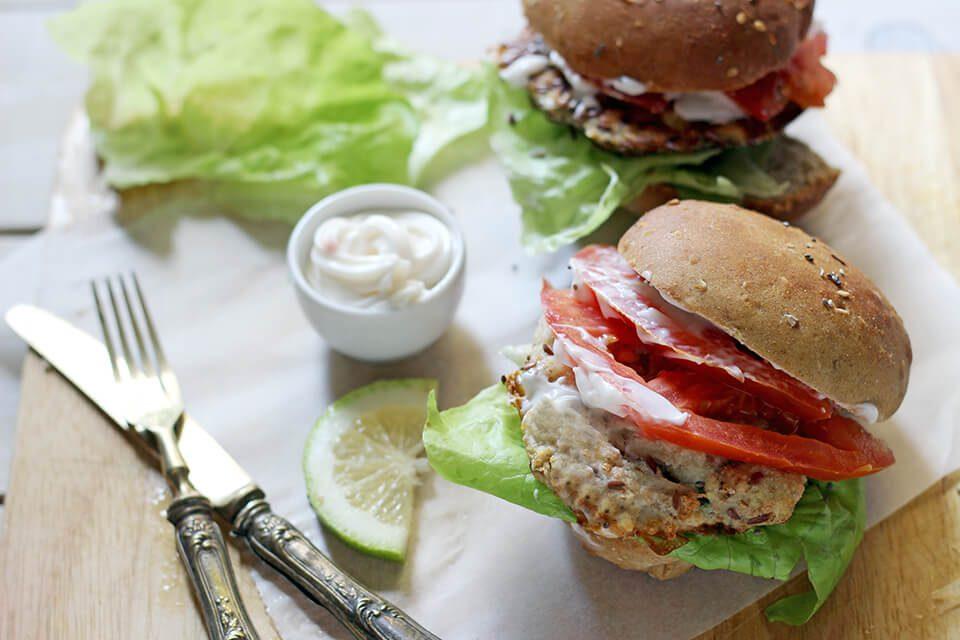 ricetta pane con semi di papavero e fish burger