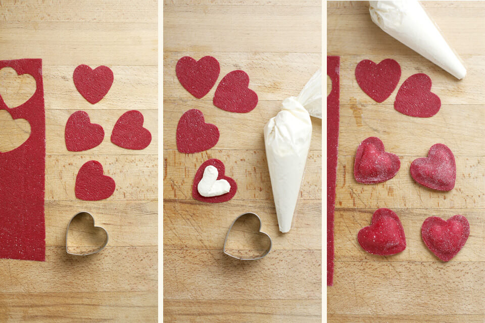 ricetta ravioli a forma di cuore