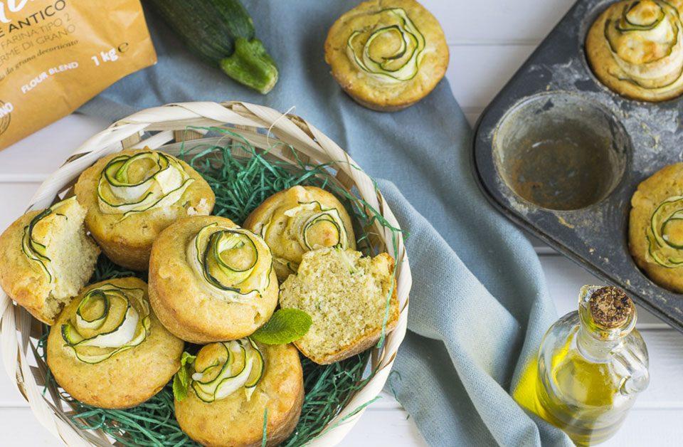 muffin morbidi con zucchine
