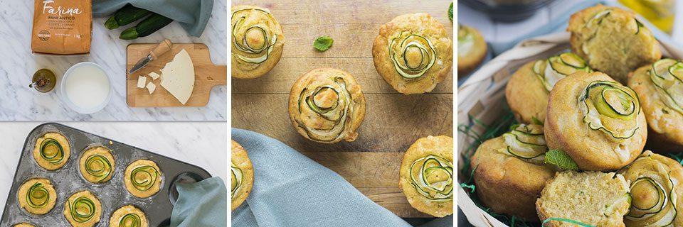 preparazione muffin salati con zucchine