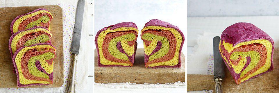 ricetta per il pane in cassetta colorato