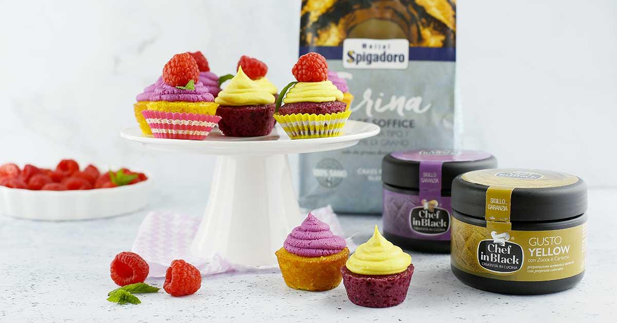 cupcake estivi con frutta e glassa colorata