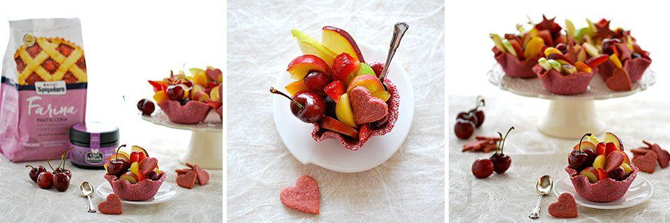 preparazione cestini di frutta