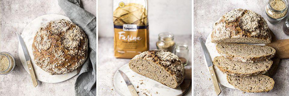 preparazione pane con lievito madre