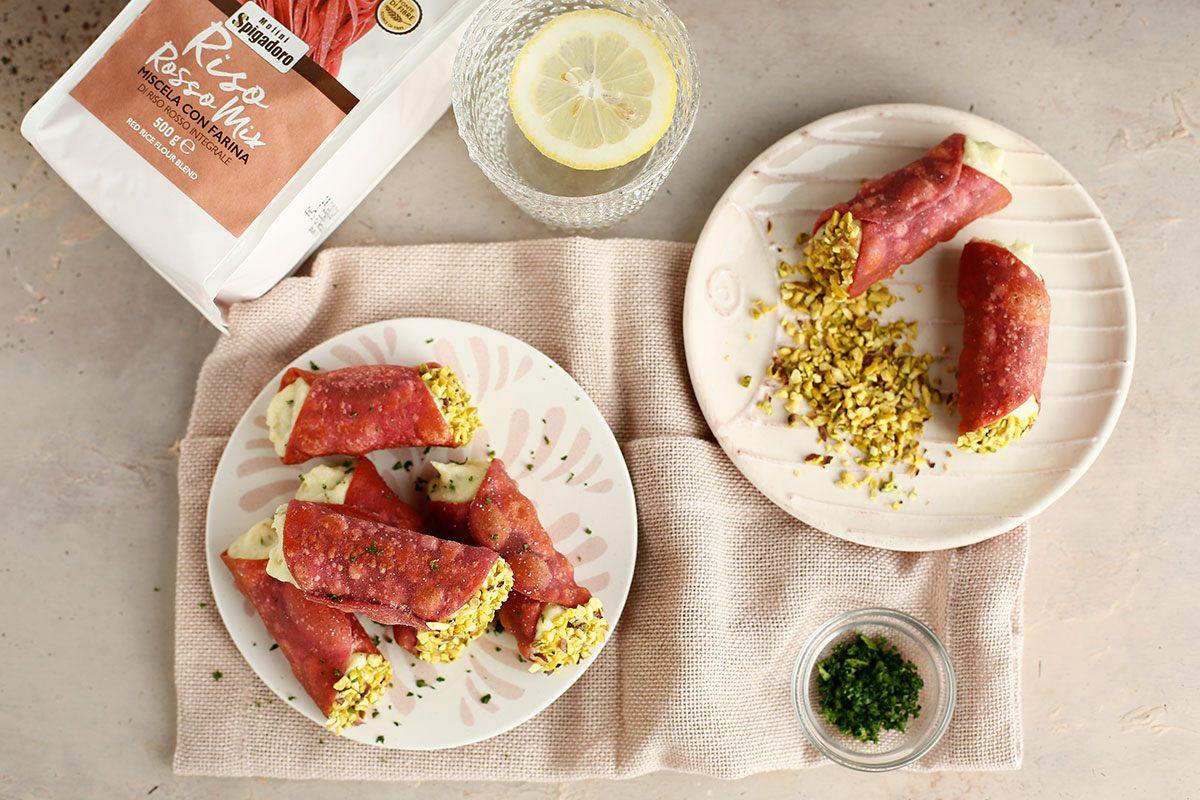 cannoli salati con baccalà e patate