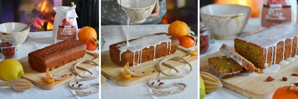 preparazione plumcake agli agrumi